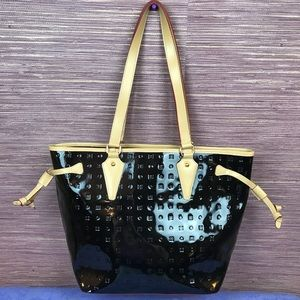 Arcadia Patent Leather Black Tote Made in Italy